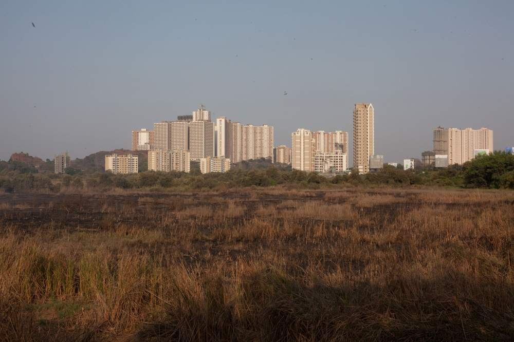 Recent new builds in the outskirts of Mumbai.
