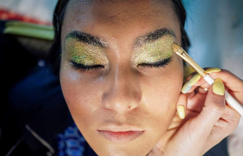 Mica is used to create the shimmer seen in many cosmetics.