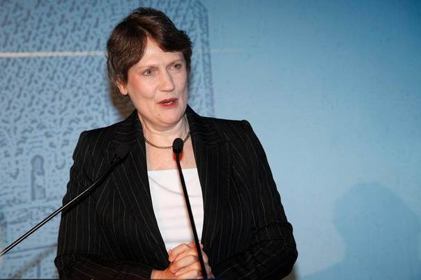 UNDP chief Helen Clark speaks at a meeting of Resident Coordinators and Resident Representatives of the U.N. in the Middle East and North Africa, Rabat March 30, 2012. REUTERS/Stringer
