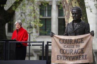 Monument to feminist trailblazer Fawcett unveiled outside London's parliament