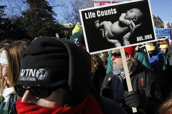 Anti-abortion demonstrators participate in the annual March for Life in Washington, United States, January 22, 2014. REUTERS/Jonathan Ernst
