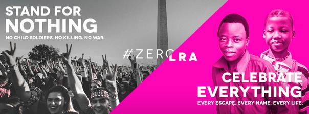 A Facebook ad for the #ZEROLRA campaign launched by Ben Keesey's organisation. Courtesy/Invisible Children Inc.