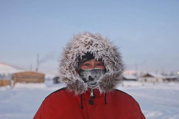 Andrei Vinokurov, 37, a wrestling trainer, poses for a picture in the village of Tomtor in the Oymyakon valley in northeastern Russia, January 21, 2013. The coldest temperatures in the northern hemisphere since the beginning of the 20th century have been recorded in the Oymyakon valley, known as the 'Pole of Cold', where according to the United Kingdom Met Office a temperature of -67.8 degrees Celsius (-90 degrees Fahrenheit) was registered in 1933. REUTERS/Maxim Shemetov