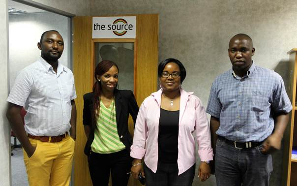 The Source staff, from left to right: Nelson Banya, Onai Abote, Chipo Musoko, Alfonce Mbizwo