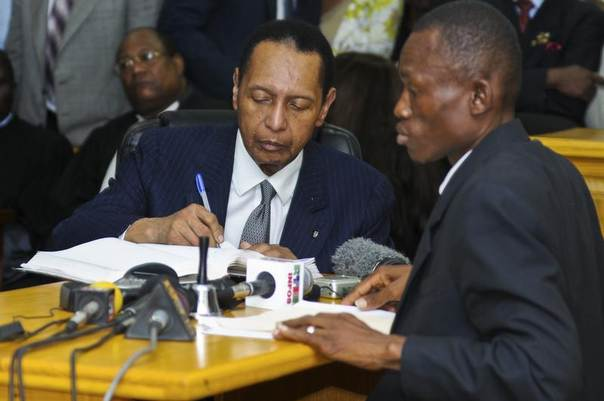 Former Haitian dictator Jean-Claude