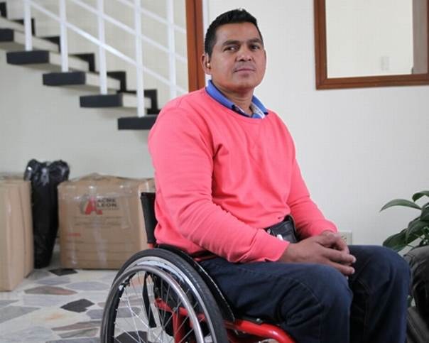 Sabas Duque, former child soldier and arms dealer for Colombia's FARC rebels at the Foundation for Reconciliation in Bogota, February 2014. THOMSON REUTERS FOUNDATION / Anastasia Moloney