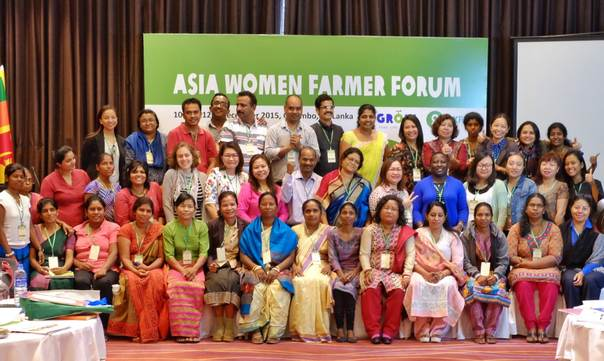 At the first Asia Women Farmer Forum, women farmers from 14 developing countries came together to exchange experiences on securing their right to land and enhancing their resilience in the face of climate change. Diah Dwiandani/Oxfam
