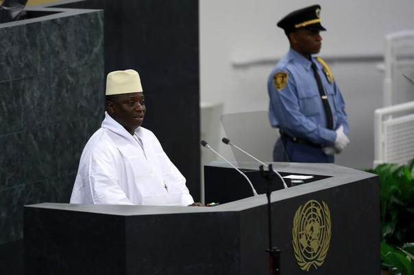 President of Gambia Yahya Jammeh speaks during the United Nations 68th session of the General Assembly at U.N. headquarters in New York September 27, 2013. REUTERS/Shannon Stapleton
