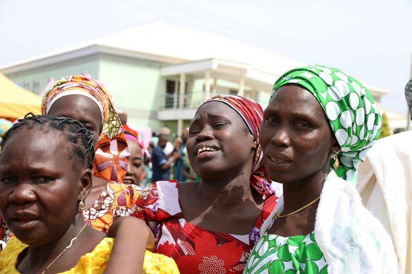 Tears flow as escaped Chibok captive brings news - good and bad