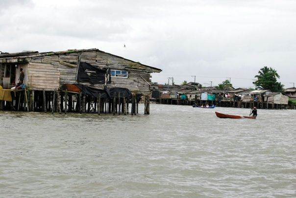 A view of Buenaventura's stilt houses. Photo by Anastasia Moloney