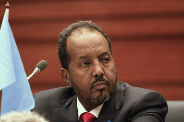 Somalia's President Hassan Sheikh Mohamud attends an Extraordinary Summit of Intergovernmental Authority on Development (IGAD) Heads of State during the African Union summit in Ethiopia's capital Addis Ababa, January 31, 2014. REUTERS/Tiksa Negeri