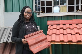 Kenyan scientist builds with bottles to beat plastic pollution