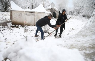 'People are not animals'; stranded migrants freeze in Bosnian forest