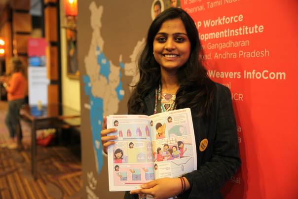 Aditi Gupta, co-founder of Menstrupedia, a start-up social enterprise that uses a comic book and online platform to shatter the taboo and dispel the myths surrounding menstruation in conservative India. TRF/Nita Bhalla