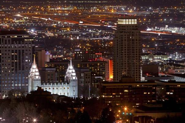 The  Church of Jesus Christ of Latter-day Saints Mormon Temple in downtown Salt Lake City, Utah, is seen in a 2012 file photo. REUTERS/Jim Urquhart