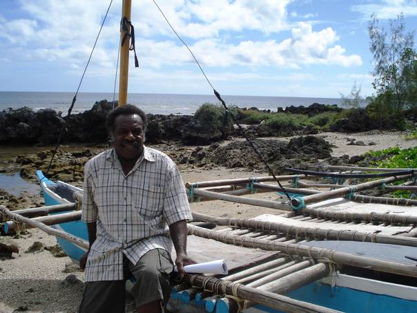 Chief Mormor, of Mangaliliu village on Efate island in the Pacific island nation of Vanuatu, says that saving traditional knowledge on disaster warning will be important to cope with climate change. THOMSON REUTERS FOUNDATION/Catherine Wilson