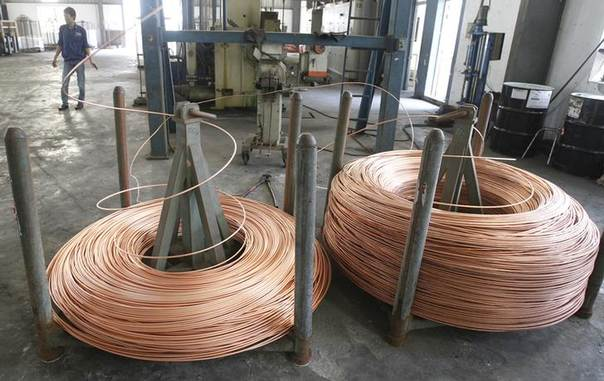In this 2013 file photo, Copper rods are seen at Truong Phu cable factory in Vietnam's northern Hai Duong province, outside Hanoi REUTERS/Kham