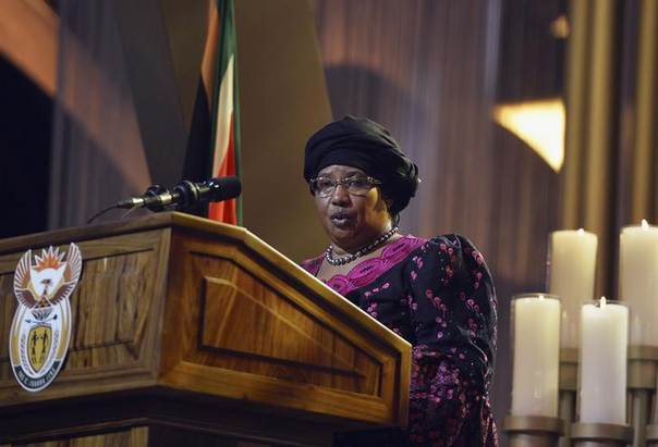 Southern African Development Community (SADC) Chairperson Joyce Banda speaks at the funeral ceremony for former South African President Nelson Mandela in Qunu December 15, 2013. REUTERS/Odd Andersen/Pool