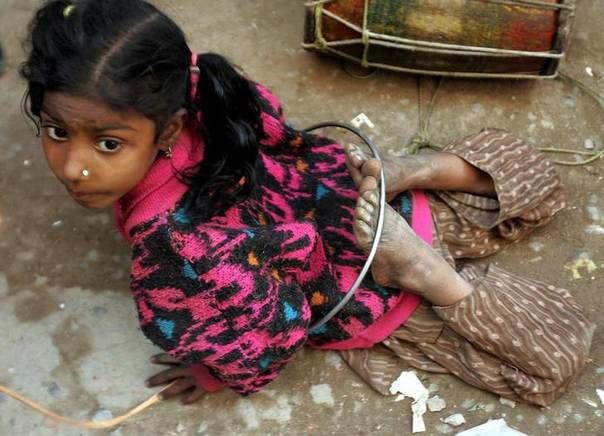 An Indian street girl performs in New Delhi, India, in this 2005 file photo.REUTERS/Desmond Boylan