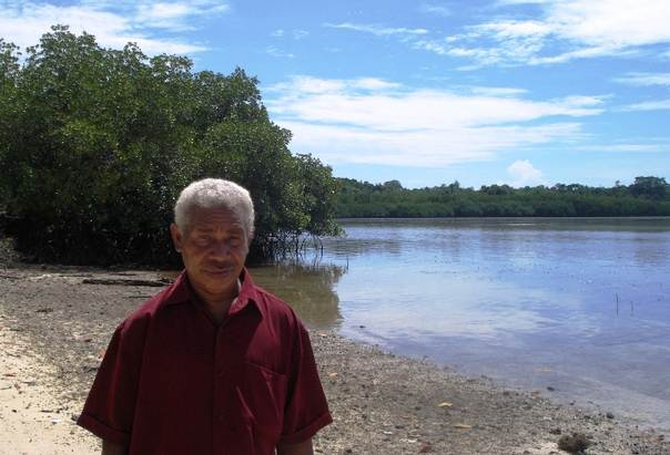 Alex Nindi, chairman of the Maringe Lagoon Conservation Committee, says climate change will worsen food insecurity already impacted by rapid population growth. TRF/Catherine Wilson
