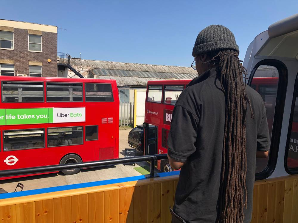 All aboard: The double-decker buses housing London's homeless