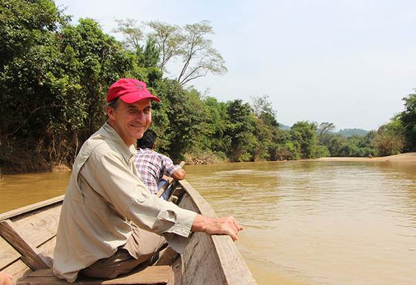 Carter Roberts in Myanmar on a stream in the Karen territories along the Thai border where much of the regions natural resources are still intact (October 2012)
