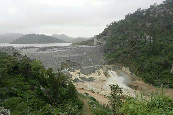 MASVINGO, ZIMBABWE. February 2014. The Tokwe-Mukorsi Dam a few weeks ago, Zimbabwe. Image courtesy of David Coltart.
