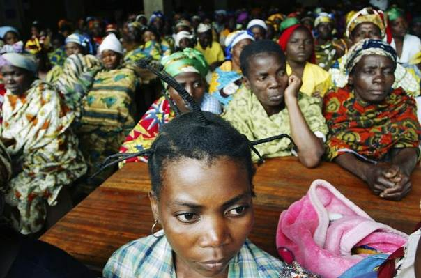 Victims of sexual violence in a hospital in eastern Congo, September 6, 2007. Women are housed and treated for rape-related injuries and illnesses. REUTERS/James Akena