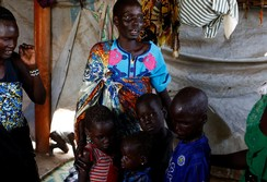 After 3 years, Nyagonga Machul, 38, reunites with her children in Juba, South Sudan