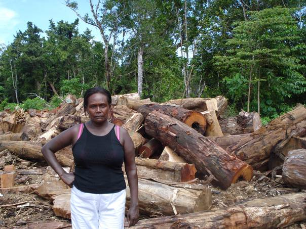 Lily Duri Dani, a landowner on Kolombangara Island in the Solomon Islands, has been involved with six court cases that have culminated in illegal logging operations being halted on the western side of the island. THOMSON REUTERS FOUNDATION/Catherine Wilson