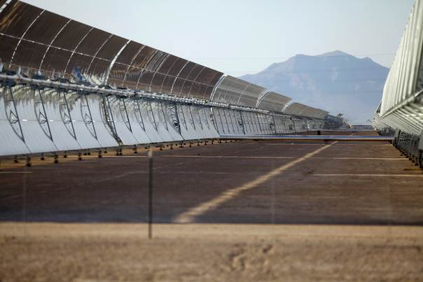 Solar collectors stand at the Solana Generating Station in Gila Bend, Arizona on May 14, 2013. REUTERS/Joshua Lott