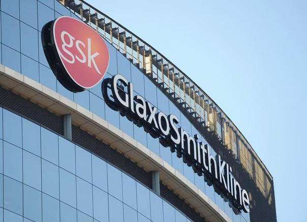 In this 2008 file photo, a GlaxoSmithKline logo is seen outside one of its buildings in west London REUTERS/Toby Melville