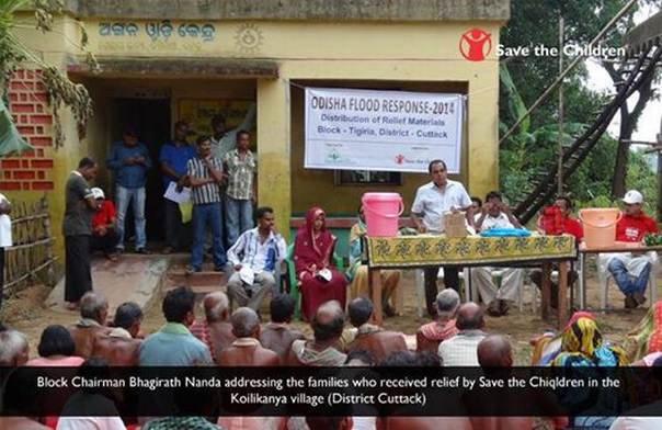 Relief distribution in Odisha by Save the Children