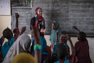 "INTERVIEW-From Jordan to Chad, ""Syria's Malala"" battles early marriage to bring girls back to school"