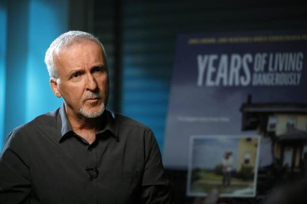Director James Cameron is interviewed in Manhattan Beach, California, April 8, 2014. REUTERS/Lucy Nicholson