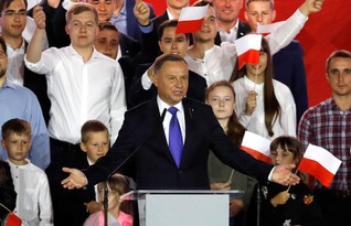 Polish President Duda wins election, new battles with EU loom