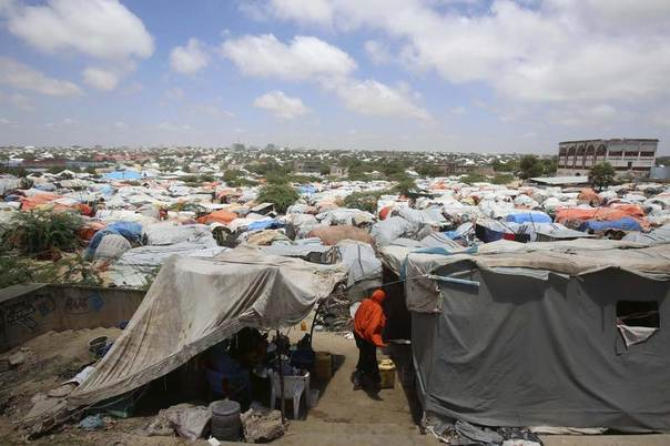 Sayidka refugee camp, for internally displaced people, is seen in the Howlwadaag area of Mogadishu, Somalia, October 3, 2013. Reuters/Feisal Omar