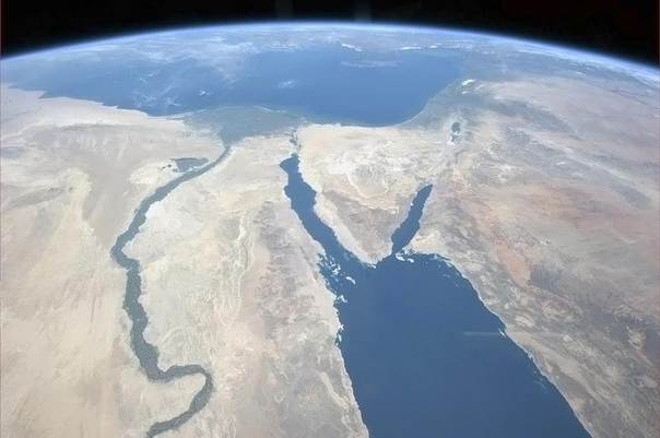 The Nile and the Sinai Peninsula are pictured in this handout photo courtesy of Col. Chris Hadfield of the Canadian Space Agency, who is photographing Earth from the International Space Station, taken on Mar. 20, 2013. REUTERS/CSA/Col. Chris Hadfield/Handout