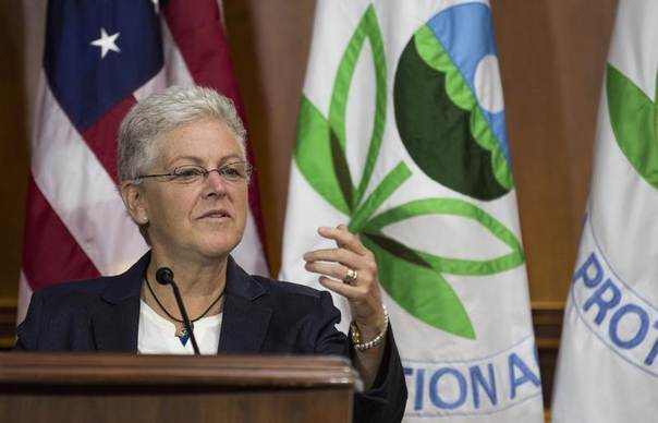 Environmental Protection Agency (EPA) Administrator Gina McCarthy announces steps under the Clean Air Act to cut carbon pollution from existing power plants at a news conference in Washington, June 2, 2014. REUTERS/Joshua Roberts