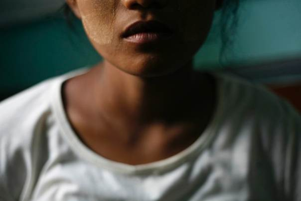 A 19-year-old trafficking victim from central Myanmar who, two years ago, managed to escape two brokers who promised a job in a nearby town but instead took her to a town in the far north and tried to get her to become a sex worker. October 12, 2012. REUTERS/Minzayar