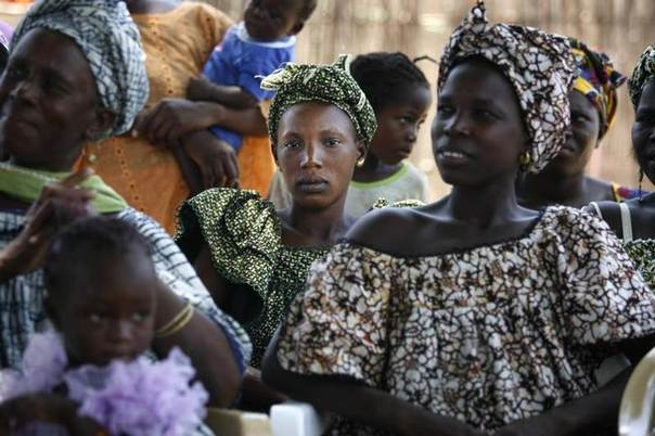 This Sept. 10, 2007 file photo shows women and children at a meeting of several communities eradicating female genital mutilation, in the western Senegalese village of Diabougo, September 10, 2007. REUTERS/Finbarr O'Reilly