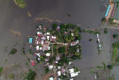 A general view shows a flooded area in Sakon Nakhon province, Thailand August 4, 2017