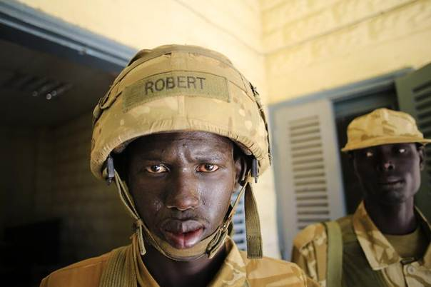 South Sudan army soldiers are pictured in Bor, 180 km (108 miles) northwest from capital Juba December 25, 2013. REUTERS/James Akena