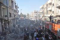 UN warns of hunger in Homs as Syrian offensive strands 120,000