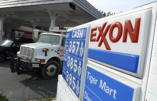 In this 2012 file photo, an Exxon gas station is pictured in Arlington, Virginia REUTERS/Jason Reed
