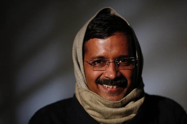 Delhi's Chief Minister Arvind Kejriwal, chief of the Aam Aadmi (Common Man) Party (AAP), smiles during an interview with Reuters at his residence on the outskirts of New Delhi January 27, 2014 REUTERS/Adnan Abidi