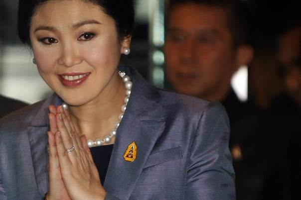 Thailand's Prime Minister Yingluck Shinawatra arrives at the Constitution court in Bangkok May 6, 2014. REUTERS/Chaiwat Subprasom