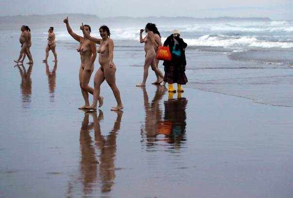Nude ladies skinny dipping at beach read this
