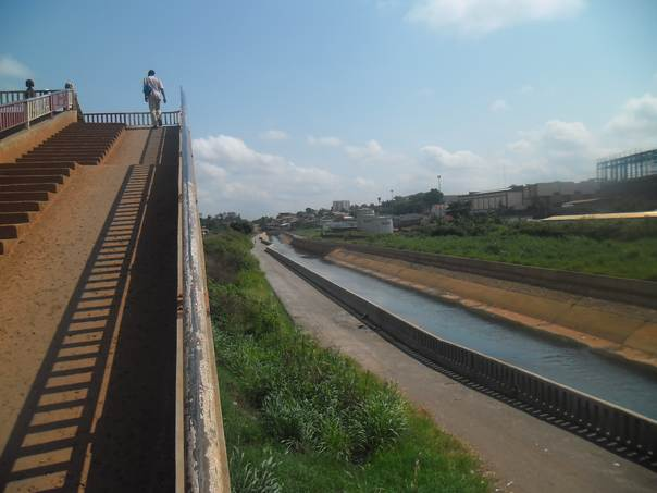 A new canal in Yaounde, Cameroon, is cutting the city's flood risk as climate change brings increasingly severe weather. THOMSON REUTERS FOUNDATION/Elias Ntungwe Ngalame