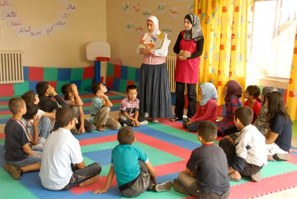 A Child Friendly Space for Syrian refugees in Lebanon
